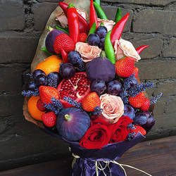 "Fruit bouquet ""Autumn masterpiece"""