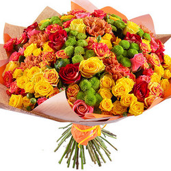 "Bright bouquet ""Sweet caramel"""