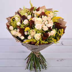 "Bouquet ""Golden leaf fall """