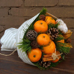 "Bouquet ""Fragrant tangerines"""