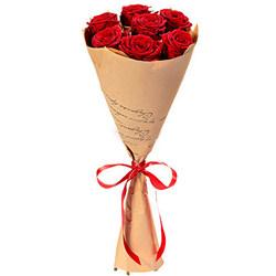 Букет з 7 червоних троянд