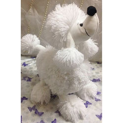 Touching Poodle (white)