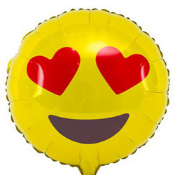 "Foil balloon ""Smiley in Love"""