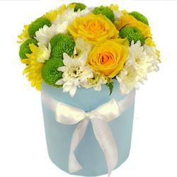 """Квіти в коробці """"Літнє сонечко"""""""