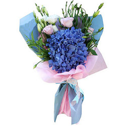"Stylish bouquet ""Blue Lagoon"""