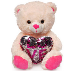 Bear (heart in sequins)