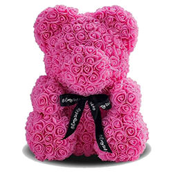 Bear of roses (pink)