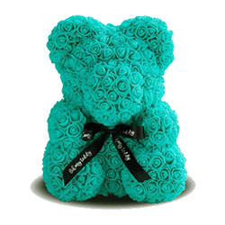 Bear of roses (turquoise)