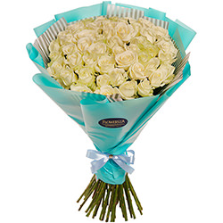 "Bouquet ""51 white roses"""