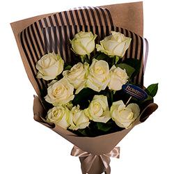 """Букет """"11 білих троянд!"""""""