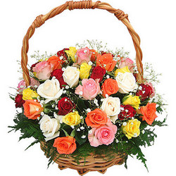 "Basket ""Bright mix"""