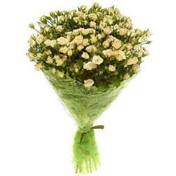 """Букет з кущових троянд """"Перламутр"""""""