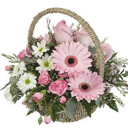"Basket ""Pink morning"""