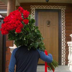 Гигантский букет роз